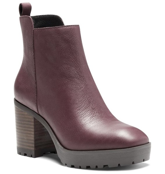 Lucky Brand worrin platform boot in deep mahogany leather