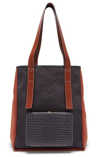 LUTZ MORRIS saylor striped canvas tote bag in navy multi