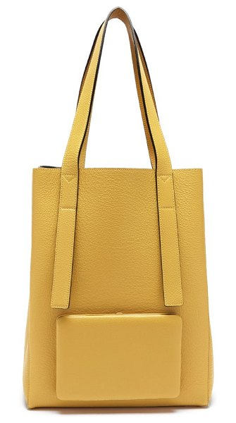 LUTZ MORRIS seveny grained-leather tote bag in yellow
