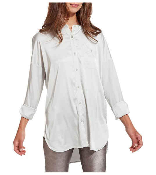 Lysse Eco-Satin Shirt in pearl grey