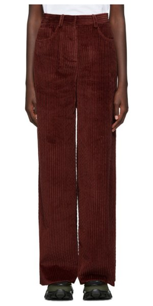 M Missoni burgundy corduroy trousers in 91337 burgu