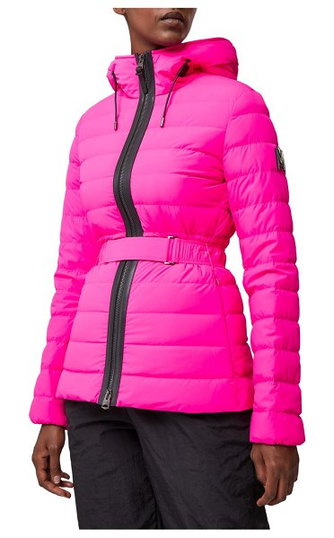 Mackage roselyn belted down puffer jacket in fuschia