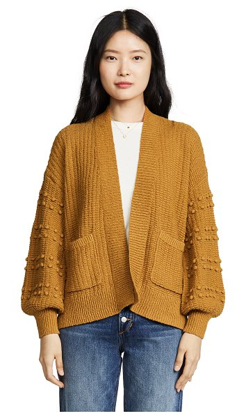 Madewell bobble sleeve sycamore cardigan in egyptian gold