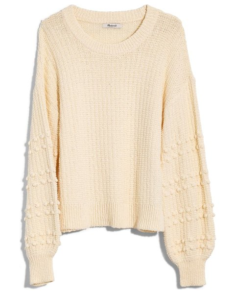Madewell bobble sweater in bright ivory