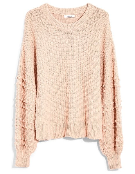 Madewell bobble sweater in avalon pink