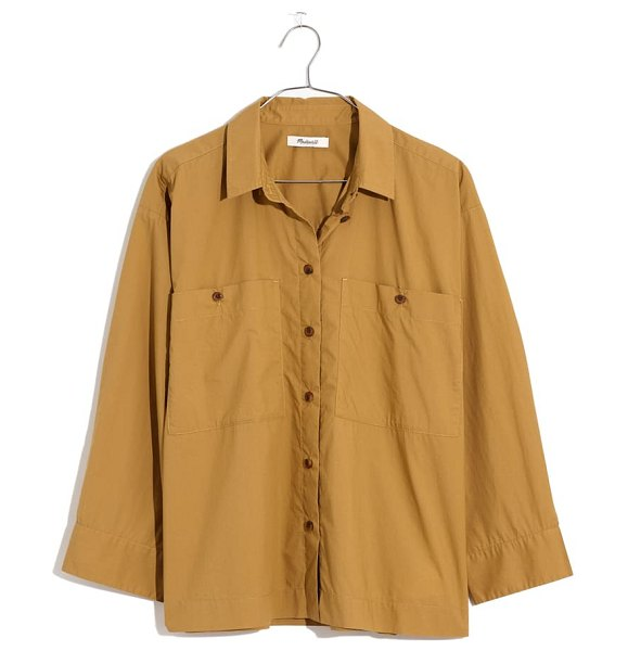 Madewell boxy workwear shirt in olive surplus