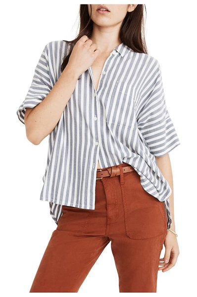 Madewell daily stripe shirt in herringbone stripe