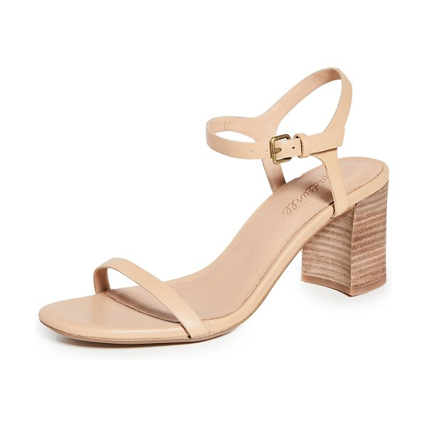 Madewell holly ankle strap sandals in earthen sand