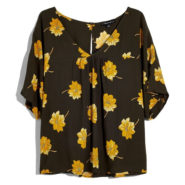 Madewell rhyme fall flowers top in effie floral dried olive