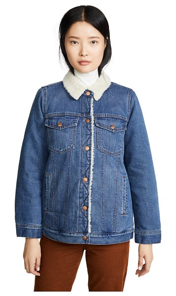 Madewell sherpa lined jean jacket in donaway wash
