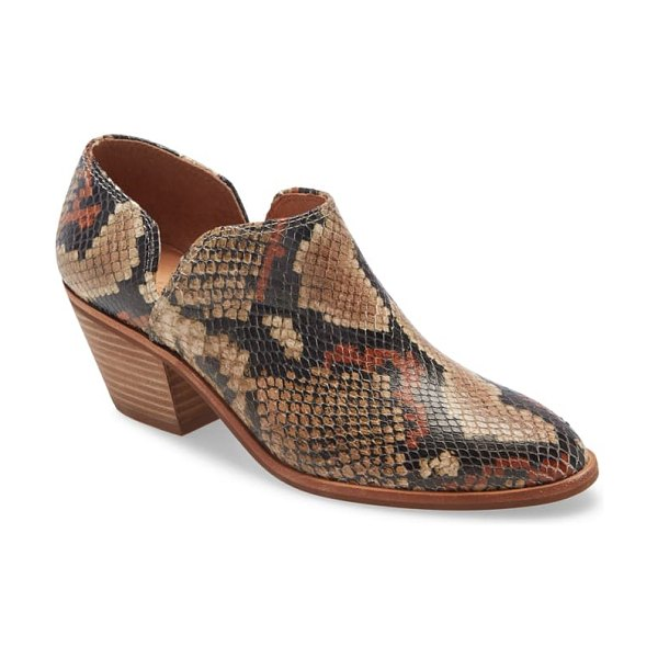 Madewell the brady low-cut bootie in snake print multi