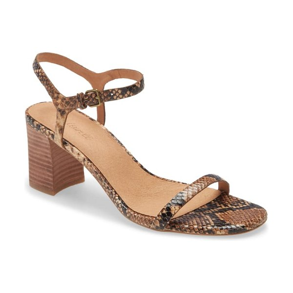 Madewell the hollie ankle strap sandal in wood ash multi