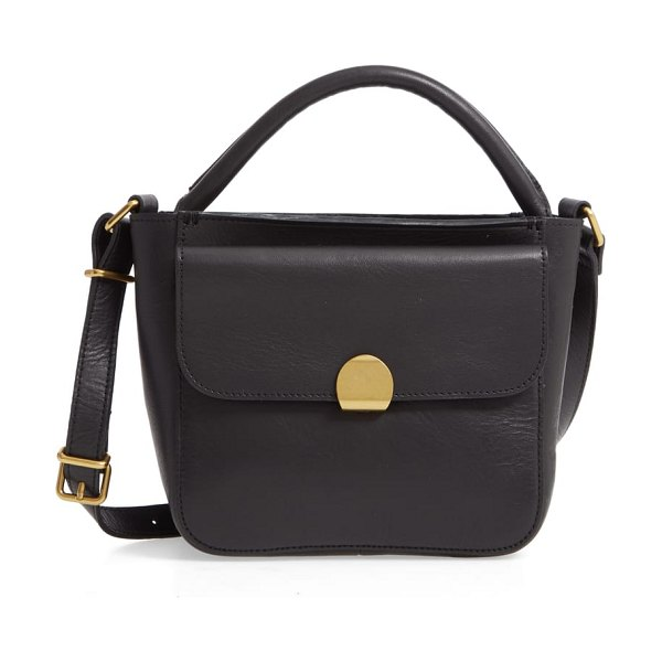 Madewell the mini abroad leather crossbody bag in true black - Thoughtfully designed with function in mind, this...
