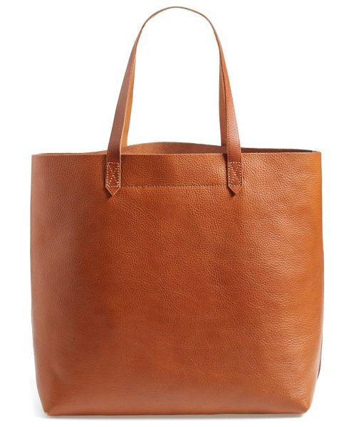Madewell 'the transport' leather tote in english saddle