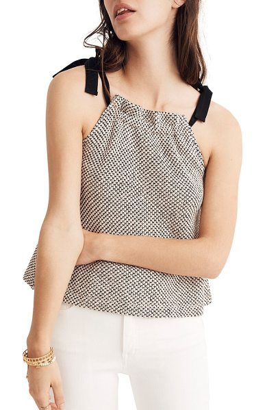 f9f43a4c0d647 Madewell tie neck halter style top in natural - A classic top gets a chic  update