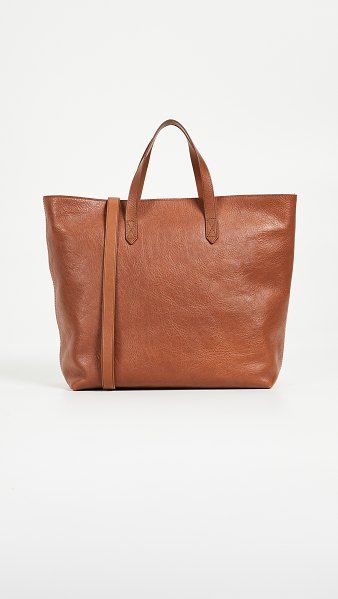 Madewell the zip-top transport carryall in english saddle