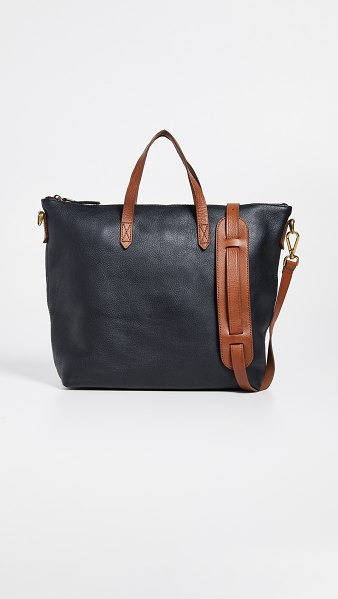 Madewell the zip-top transport carryall in true black