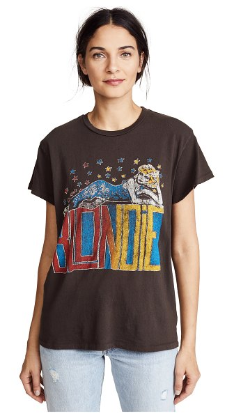 MADEWORN ROCK blondie tee in dirty black