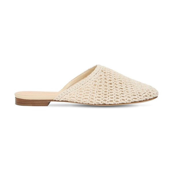 Magda Butrym 10mm woven crochet mules in ivory