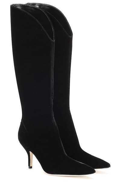 Magda Butrym england suede knee-high boots in black
