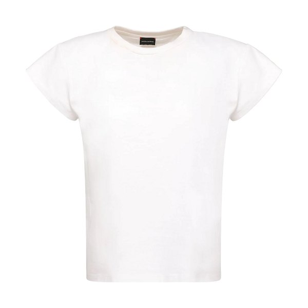 Magda Butrym Rubberized logo cotton jersey t-shirt in white
