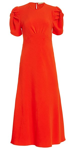 Maggie Marilyn its up to you puff-sleeve midi dress in orange
