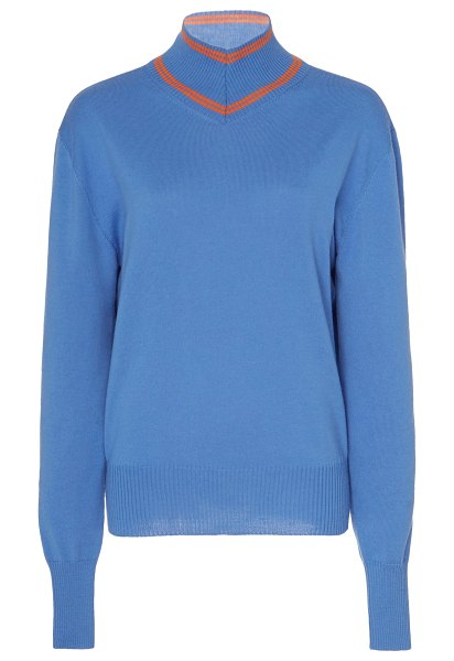 Maggie Marilyn make a difference wool turtleneck sweater in blue