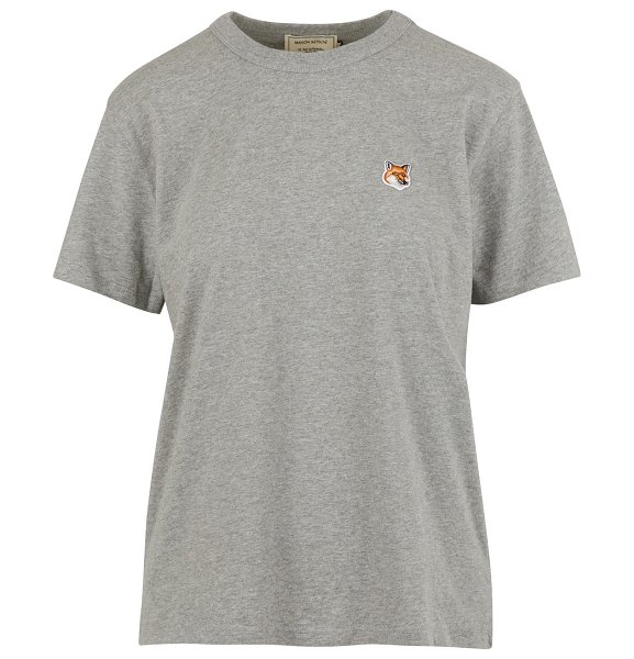 Maison Kitsune Fox t-shirt in grey mélange