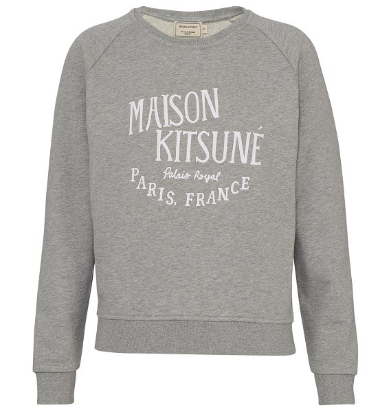 Maison Kitsune Palais Royal sweatshirt in grey mélange