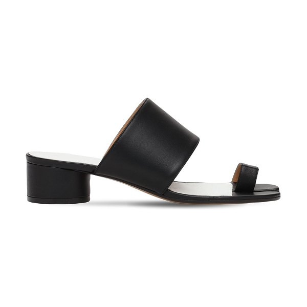 Maison Margiela 30mm tabi leather thong sandals in black