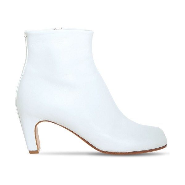 Maison Margiela 60mm tabi leather ankle boots in white