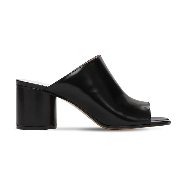 Maison Margiela 60mm tabi leather mules in black