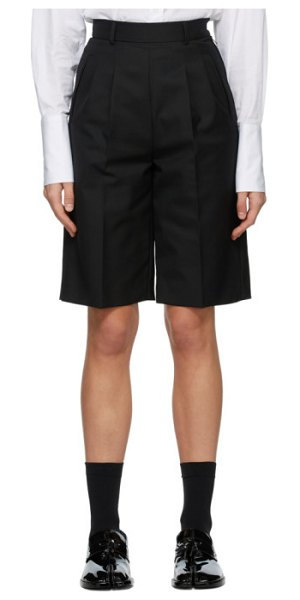 Maison Margiela black city shorts in 900 black