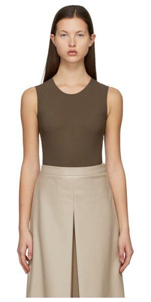 Maison Margiela brown second skin bodysuit in 140 brown