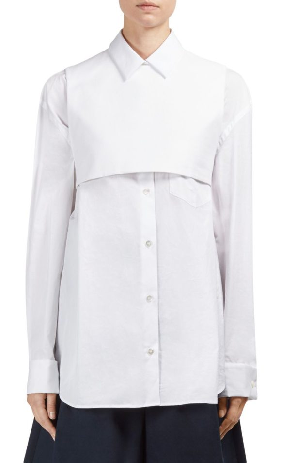 MAISON MARGIELA cotton button-front shirt - Wardrobe essential polo crafted from blended cotton. Point...