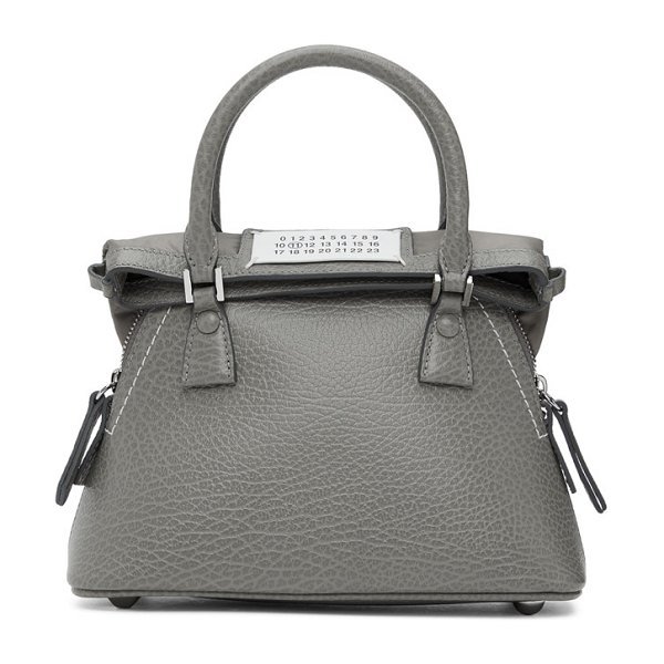 Maison Margiela grey micro 5ac bag in h8383 smoke