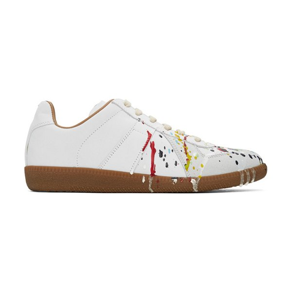 Maison Margiela grey painted replica sneakers in 961 paint