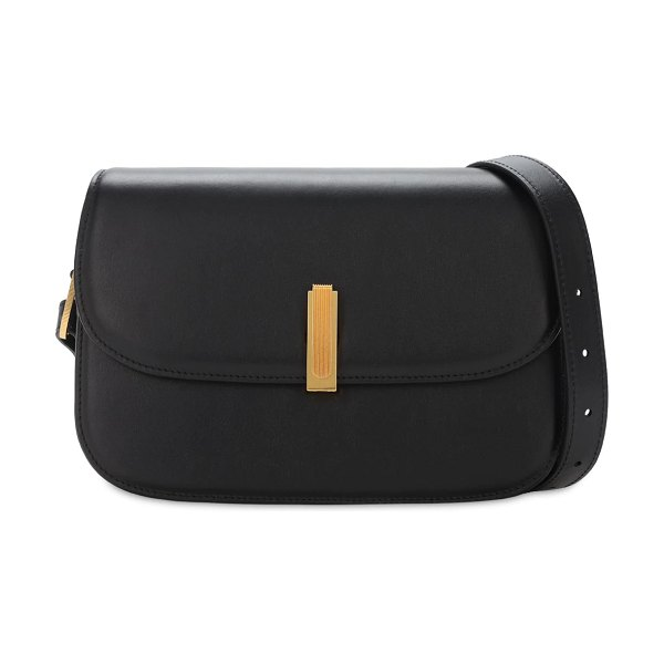 Maison Margiela Leather shoulder bag in black