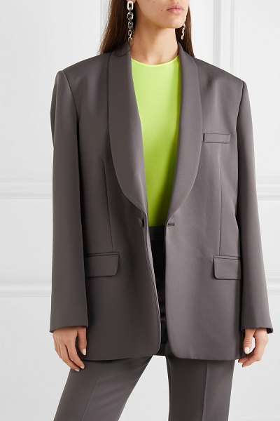 Maison Margiela oversized cady blazer in gray