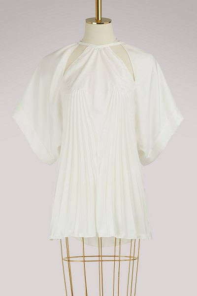 Maison Margiela Pleated top in white
