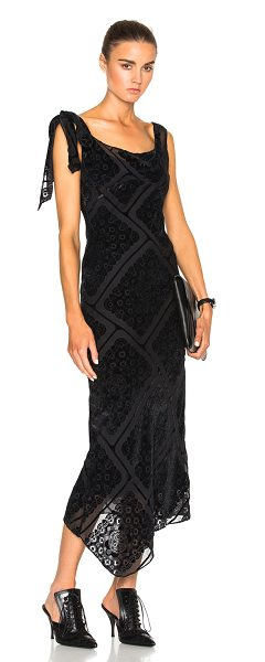 MAISON MARGIELA Printed Devore Gown - Self: 82% viscose 18% silk - Lining: 100% silk.  Made in...