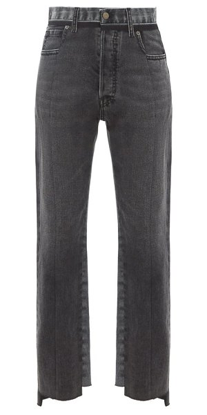 Maison Margiela raw-hem panelled straight-leg jeans in black