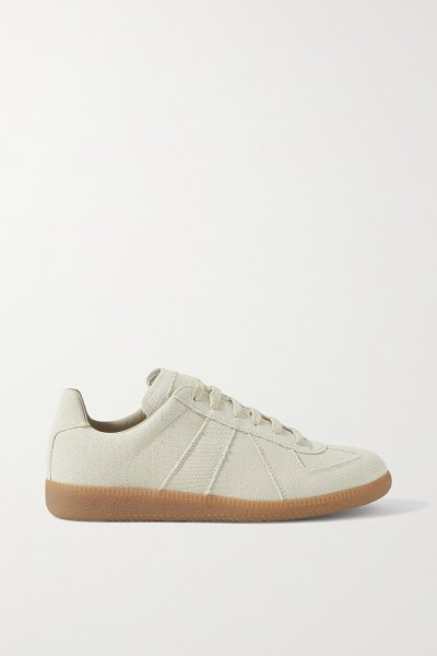 Maison Margiela replica canvas sneakers in ecru