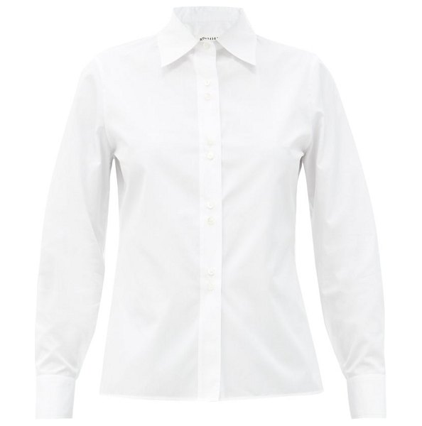 Maison Margiela slim-fit cotton-poplin shirt in white