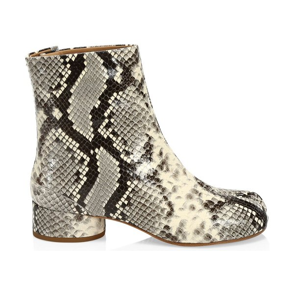 Maison Margiela tabi snakeskin-embossed leather ankle boots in dirty white