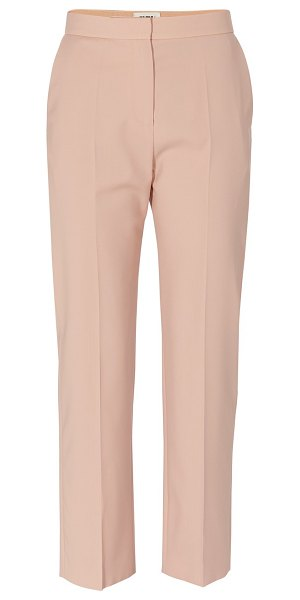MAISON RABIH KAYROUZ Pleated trousers in pink powder