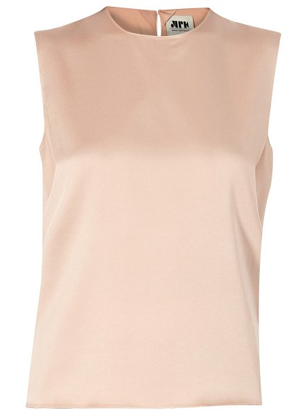 MAISON RABIH KAYROUZ Satin sleeveless top in pink powder