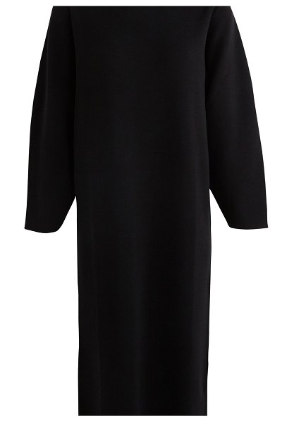 Maison Ullens Wool dress in 000 black + 742 green
