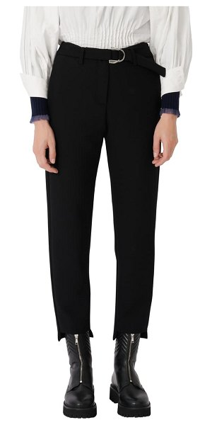 Maje flat front ankle pants in black