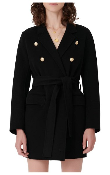 Maje wool blend jacket in black